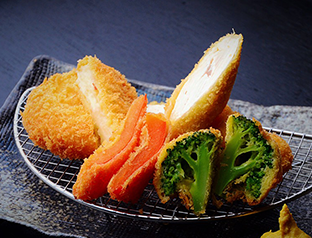 Chicken Fillet Cutlet and Cream Croquette Set